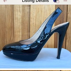 Authentic Valentino Black Patent Leather Pumps